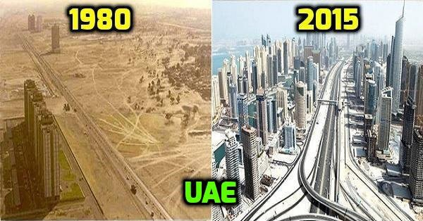 Before & After of UAE