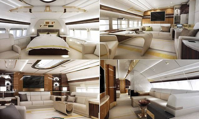 Boeing 747-8 lounge and interior most expensive