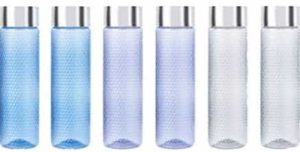Amazon Brand - Solimo Plastic Water Bottle Set