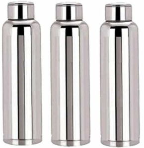Kuber IndustriesTM Stainless Steel 3 Pcs Fridge Water Bottle